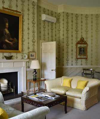 The Duc De Berry Suite sitting room at Hartwell House